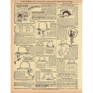 シアーズ・ローバック通販カタログより帽子 ハット(1968年)sr021