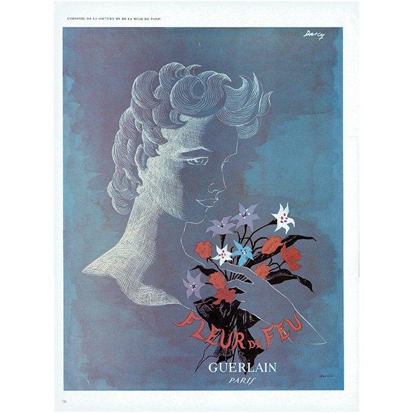 フランスの1940年代ファッション雑誌より ゲラン(GUERLAIN)香水 0134 ...