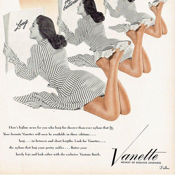 アメリカの1940年代ファッション雑誌よりCALIFORNIA COBBLERSの広告 0136