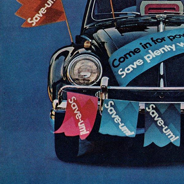 1960年代 フォルクスワーゲンビートル(VW Beetle)ヴィンテージ雑誌広告 001