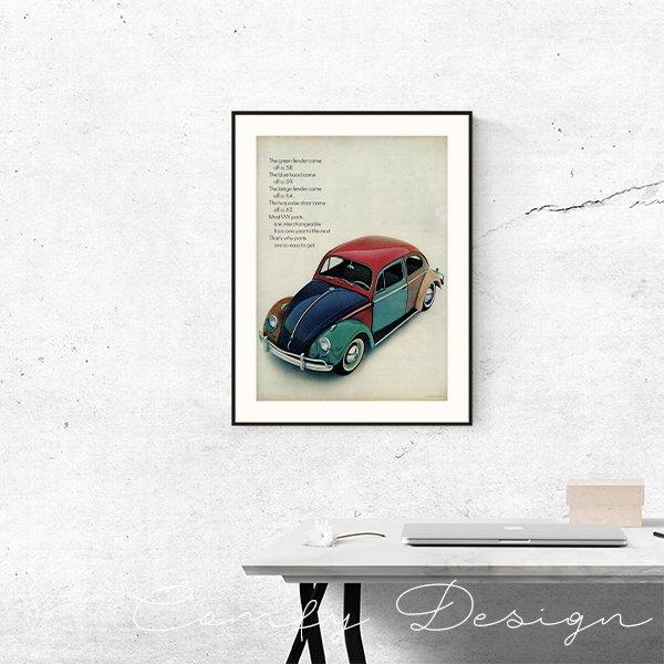 1960年代 フォルクスワーゲンビートル(VW Beetle)ヴィンテージ雑誌広告 002