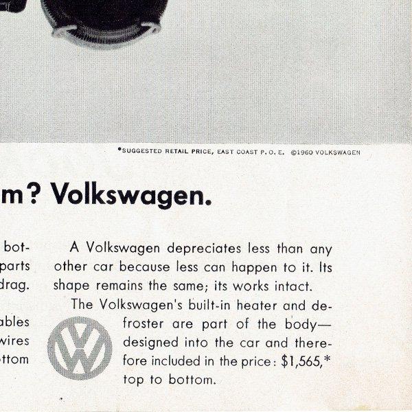 1960年代 フォルクスワーゲンビートル(VW Beetle)ヴィンテージ雑誌広告 003