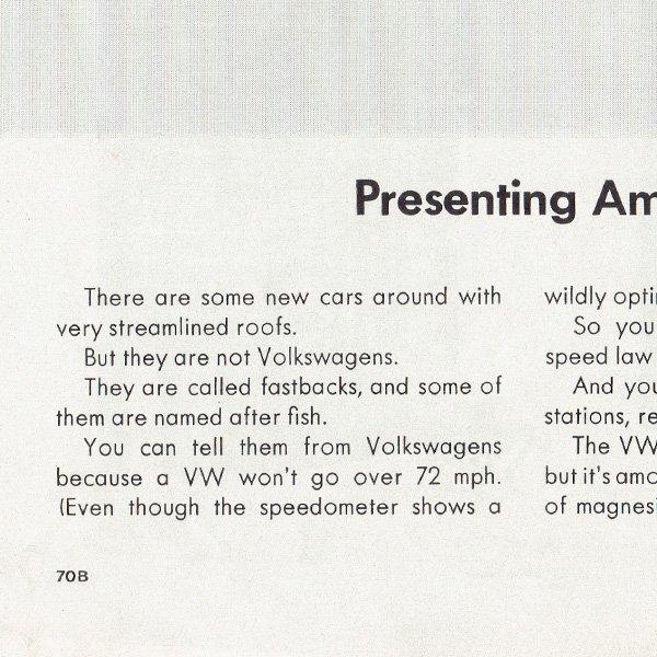 1960年代 フォルクスワーゲンビートル(VW Beetle)ヴィンテージ雑誌広告 004