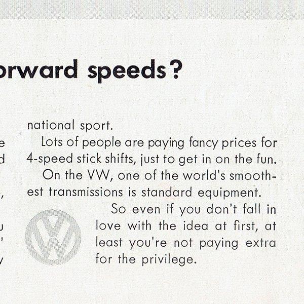 1960年代 フォルクスワーゲンビートル(VW Beetle)ヴィンテージ雑誌広告 0010