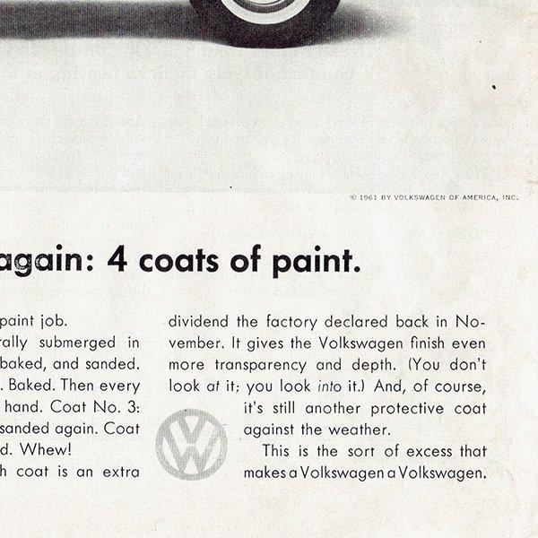 1960年代 フォルクスワーゲンビートル(VW Beetle)ヴィンテージ雑誌広告 0011