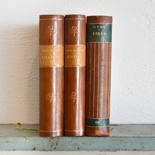 デンマーク 北欧 アンティークブック 古い洋書 3冊セット ディスプレイ031