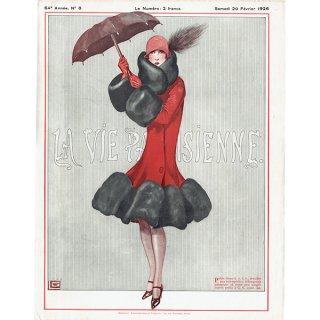フランスの雑誌表紙 〜LA VIE PARISIENNE〜より(ジョルジュ・レオネック/Georges Léonnec)0136