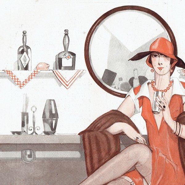 フランスの雑誌裏表紙 〜LA VIE PARISIENNE〜より(Zyg Brunner)0163