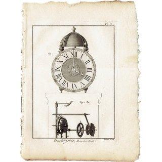 時計製造図版(工業系) アンティークプリント  0037
