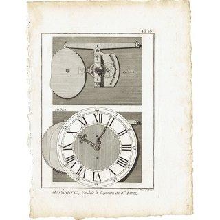 時計製造図版(工業系) アンティークプリント  0038