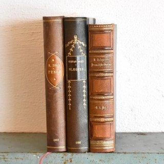 デンマーク 北欧 アンティークブック 古い洋書 3冊セット ディスプレイ050