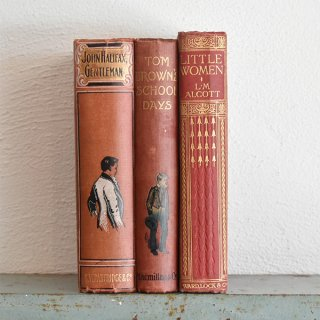 イギリス アンティークブック 古い洋書 3冊セット ディスプレイ055