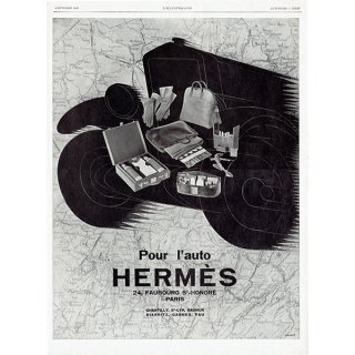 フランスの1928年の雑誌よりHermès(エルメス)の広告 0180