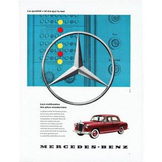 MERCEDES-BENZ(メルセデスベンツ)1960年代クラシックカーのヴィンテージ広告 0038