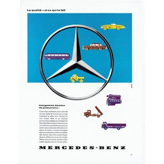 MERCEDES-BENZ(メルセデスベンツ)1960年代クラシックカーのヴィンテージ広告 0039