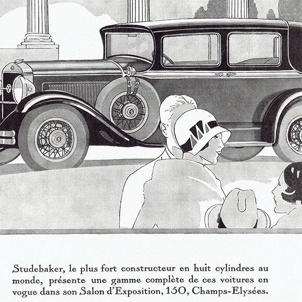 STUDEBAKER(スチュードベーカー)1929年クラシックカーのヴィンテージ広告 0046