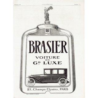 BRASIER(ブラジエール)1920年クラシックカーのヴィンテージ広告 0047