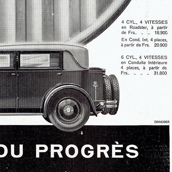 MATHIS(マティス)1929年クラシックカーのヴィンテージ広告 0048