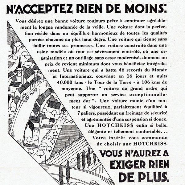 HOTCHIKISS(オチキス)1930年クラシックカーのヴィンテージ広告 0049