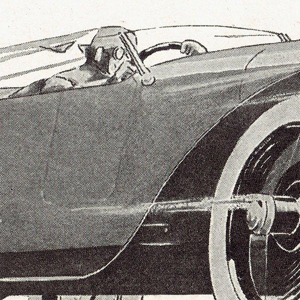 Chenard & Walcker(シュナール・ワルケル) 1926年クラシックカーのヴィンテージ広告 0055