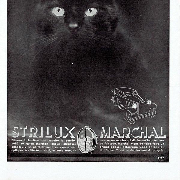 MARCHAL(マーシャル)1931年 黒猫 ヴィンテージ広告 0056