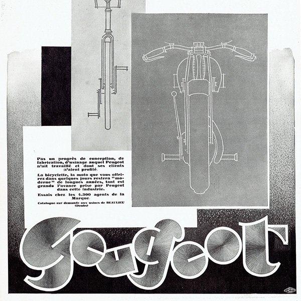 PEUGEOT(プジョー)1928年 自転車・バイクのヴィンテージ広告 0057