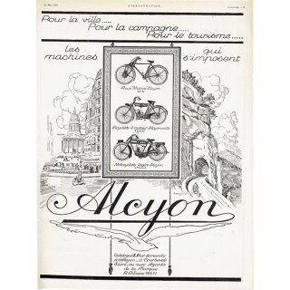 Alcyon(アルシオン)1924年 自転車・バイクのヴィンテージ広告 0058