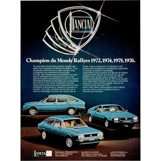 LANCIA(ランチア)1977年 フレンチヴィンテージ広告  0059