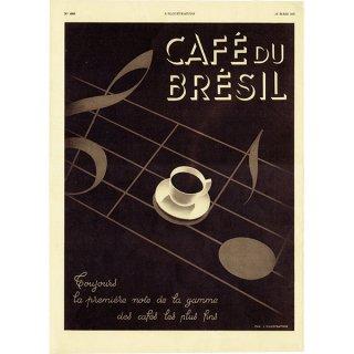 フレンチヴィンテージ広告(CAFÉ de BRÉSIL) カフェ コーヒー 1937年 0184