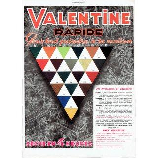 Valentine カラー見本 フレンチヴィンテージ広告 1929年 0185