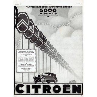 Citroën(シトロエン)1925年 フレンチヴィンテージ広告  0063