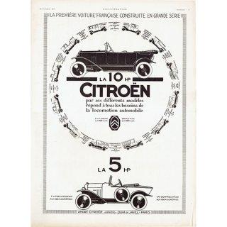 Citroën(シトロエン)1922年 フレンチヴィンテージ広告  0066