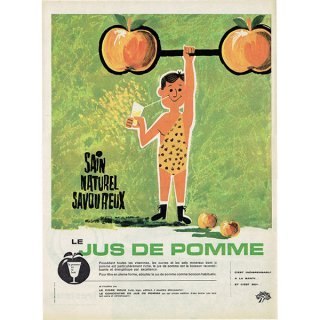 リンゴジュース(LE JUS DE POMME) フレンチヴィンテージ広告 1961年 0186