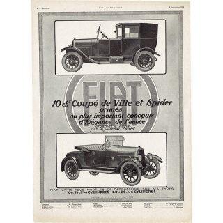 Fiat(フィアット)1924年 フレンチヴィンテージ広告  0067