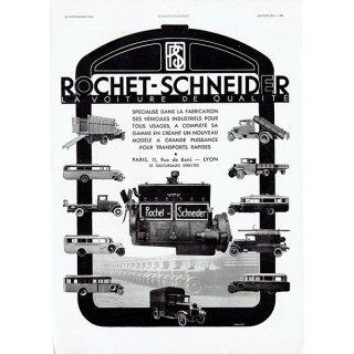 Rochet Schneider(ロシェシュナイダー)1931年 フレンチヴィンテージ広告  0068