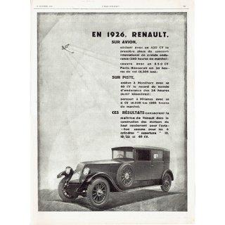 RENAULT(ルノー)1926年 フレンチヴィンテージ広告  0069