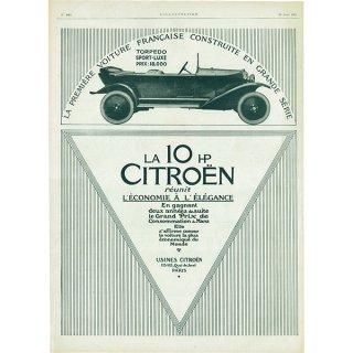 Citroën(シトロエン)1921年 フレンチヴィンテージ広告  0071
