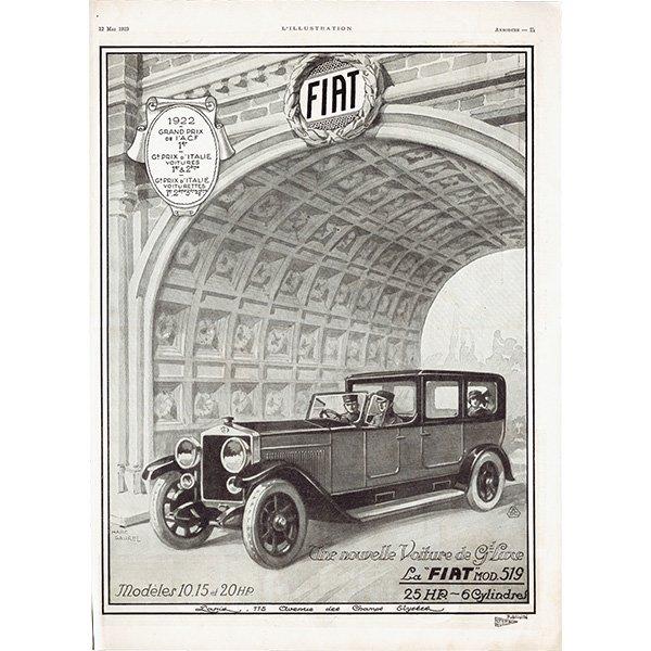 Fiat(フィアット)1923年 フレンチヴィンテージ広告  0072
