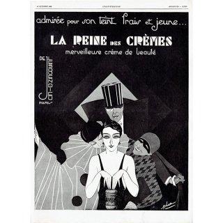 La Reine des crèmesのヴィンテージ広告 1929年 0190