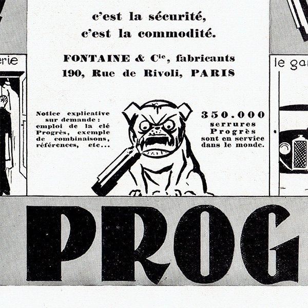 Cle Progres セキュリティのヴィンテージ広告 1929年 0193