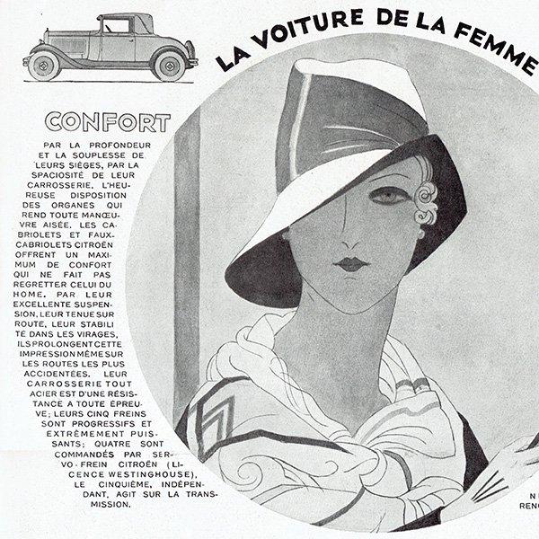 Citroën(シトロエン)1929年 フレンチヴィンテージ広告  0076