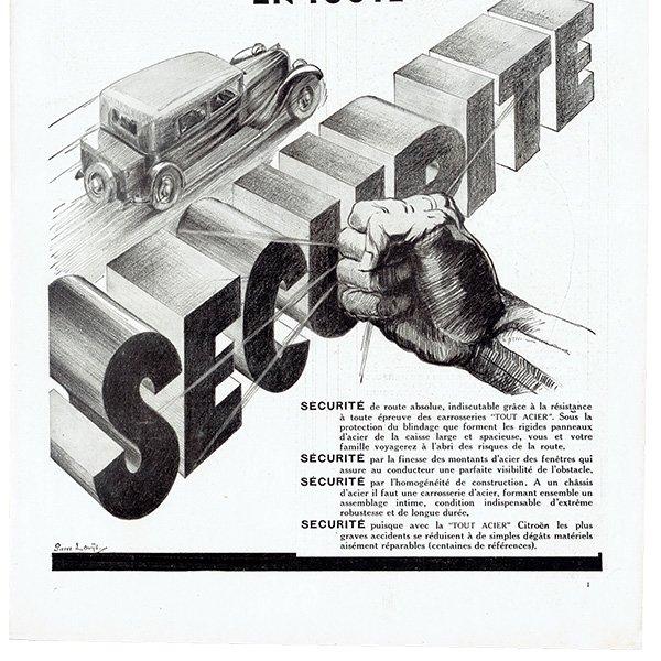 Citroën(シトロエン)1931年 フレンチヴィンテージ広告  0077