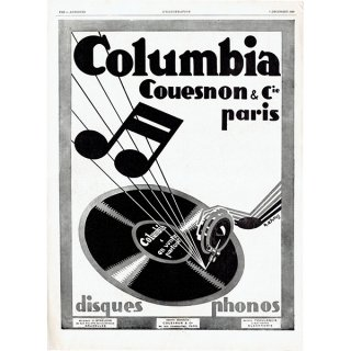 Colombia(コロンビア)蓄音機のヴィンテージ広告 1929年 0194