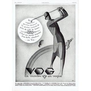 VOG スポーツ用時計のヴィンテージ広告 1929年 0195