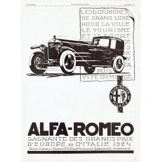 ALFA ROMEO(アルファロメオ)1925年 フレンチヴィンテージ広告  0078