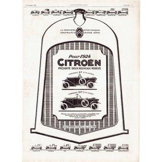 Citroën(シトロエン)1923年 フレンチヴィンテージ広告  0079