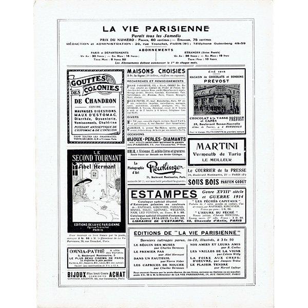 ジョルジュ・バルビエ(George Barbier)フランスの雑誌表紙 〜LA VIE PARISIENNE〜より 0271