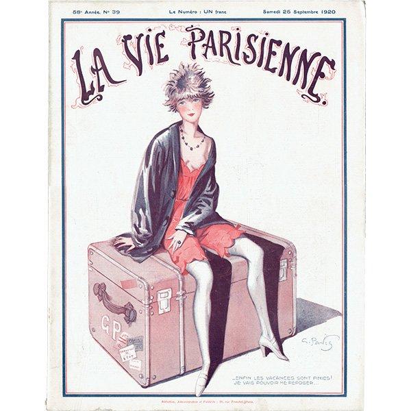 フランスの雑誌表紙 〜LA VIE PARISIENNE〜より(Georges Alfred Pavis)0304