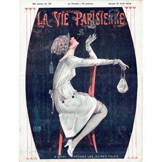フランスの雑誌表紙 〜LA VIE PARISIENNE〜より(ジョルジュ・レオネック/Georges Léonnec)0325