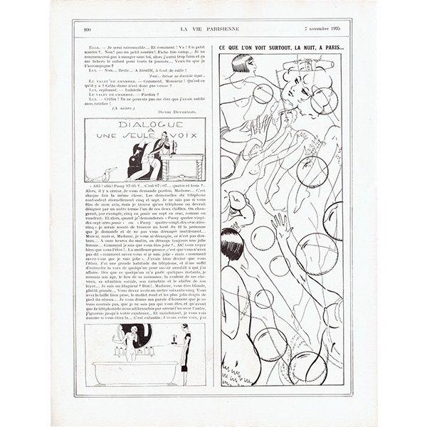 フランスの雑誌挿絵 〜LA VIE PARISIENNE〜より(シェリ・エルアール/Chéri Hérouard)0359
